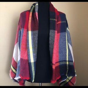 Zara oversized plaid blanket scarf